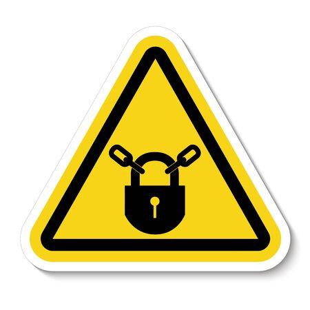 PPE Icon. Keep Locked Symbol Sign Isolate On White Background, Vector Illustration Ilustrace
