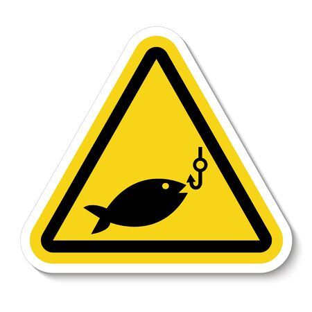 No Fishing Symbol Sign Isolate On White Background, Vector Illustration