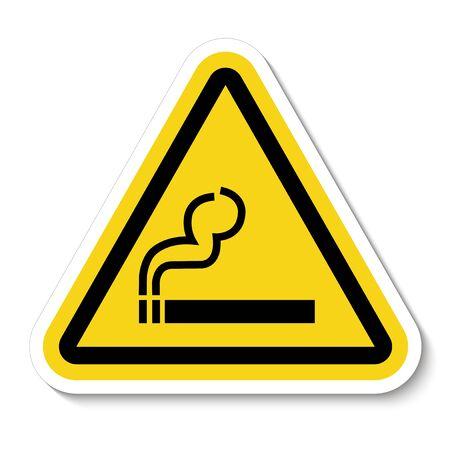 No Smoking Symbol Sign Isolate On White Background, Vector Illustration