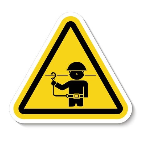 PPE Icon.Use Safety Belts Symbol Sign Isolate On White Background, Vector Illustration Stok Fotoğraf - 133464179