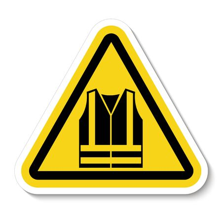 PPE Icon.Wear High Visibility Clothing Symbol Sign Isolate On White Background, Vector Illustration Çizim