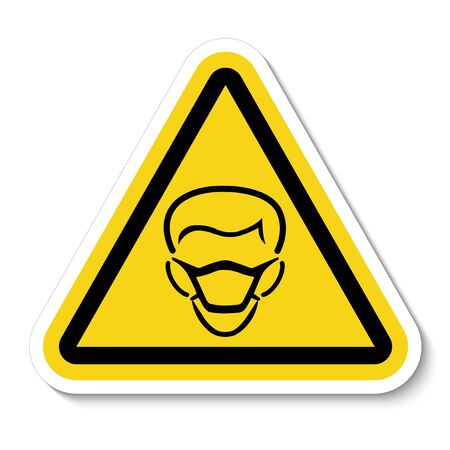 PPE Icon.Wear Mask Symbol Sign Isolate On White Background, Vector Illustration