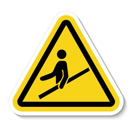 PPE Icon.Use Handrail Symbol Sign Isolate On White Background, Vector Illustration Stock Illustratie