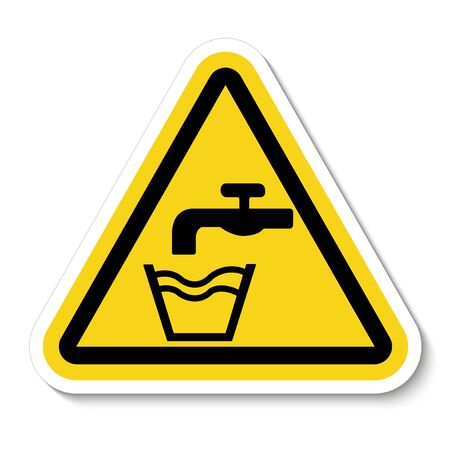 Not Drinking Water Symbol Sign Isolate On White Background,Vector Illustration  Çizim