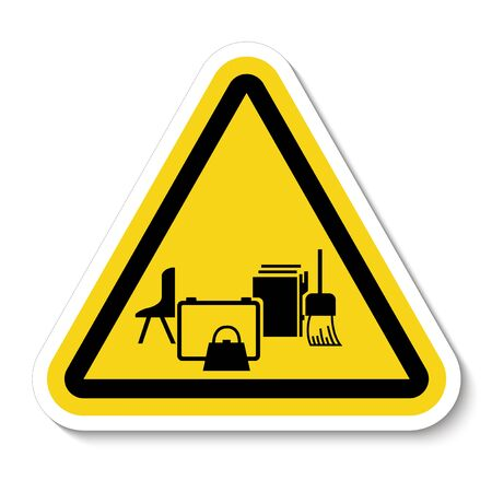 Keep Area Clear Symbol Sign Isolate on White Background,Vector Illustration   イラスト・ベクター素材
