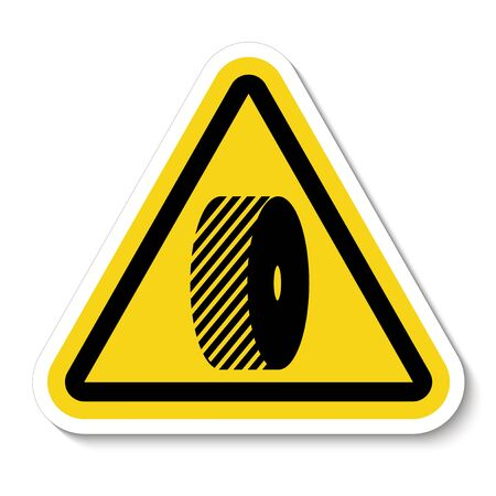Do Not Change Grinding Wheels Symbol Sign Isolate on White Background,Vector Illustration