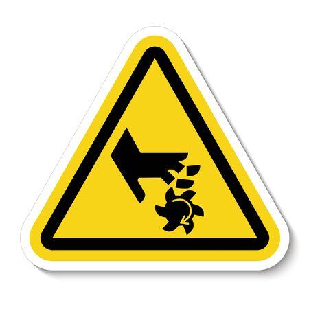 Cutting of Fingers Rotating Blade Symbol Sign, Vector Illustration, Isolate On White Background Label Ilustração