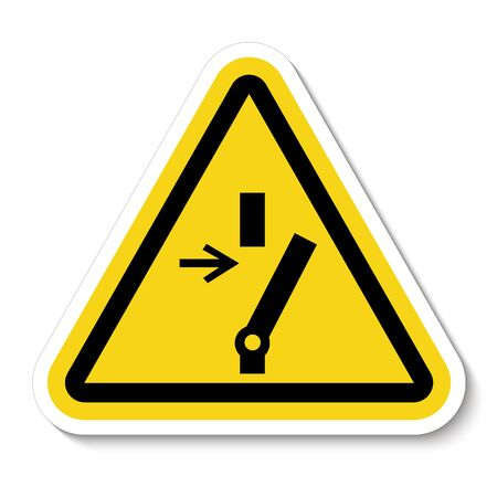 Disconnect Before Carrying Out Maintenance Or Repair Symbol Sign On black Background Isolate On White Background,Vector Illustration