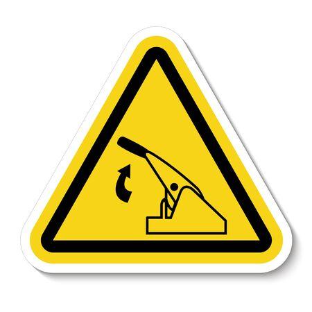 Pull Parking Brake Symbol Sign Isolate On White Background,Vector Illustration 向量圖像