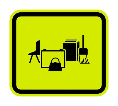 Keep Area Clear Symbol Sign Isolate on White Background,Vector Illustration