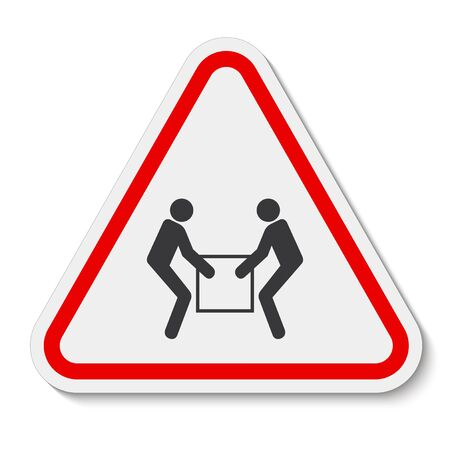 Use Two Person Lift Symbol Sign Isolate On White Background,Vector Illustration