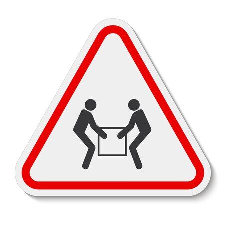 Utilice el signo de símbolo de elevación para dos personas aislado sobre fondo blanco, ilustración vectorial