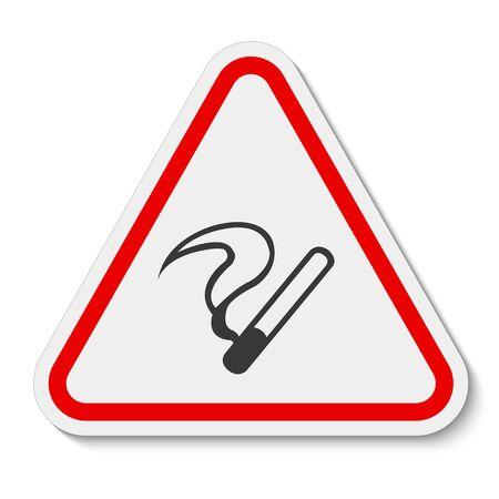 No Smoking Symbol Sign Isolate on White Background,Vector Illustration Иллюстрация