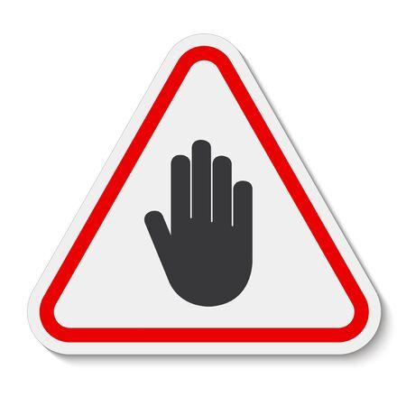 Do Not Entry Symbol Sign Isolate On White Background,Vector Illustration Иллюстрация