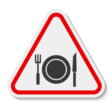 No Eating Symbol Sign Isolate On White Background,Vector Illustration