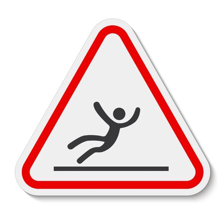 Beware Slippery Surface Symbol Isolate On White Background,Vector Illustration