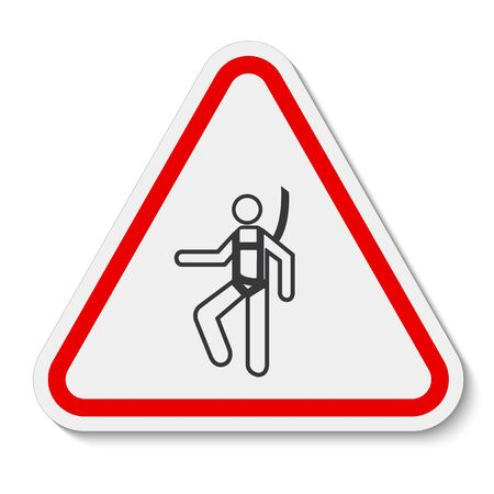 Symbol Wear Safety Harness Sign Isolate On White Background,Vector Illustration . Иллюстрация