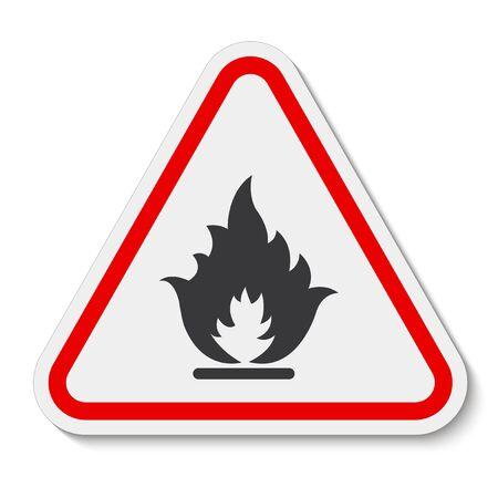 Beware Flammable Gas Symbol Isolate On White Background,Vector Illustration Standard-Bild - 134671834