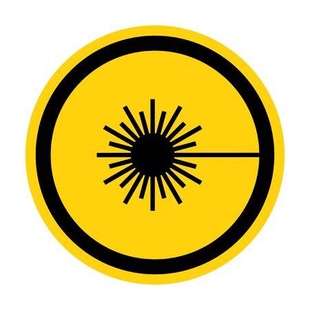 Beware Laser Beam Symbol Sign Isolate On White Background,Vector Illustration Ilustração