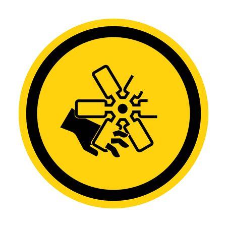 Coupe des doigts ou signe de symbole de ventilateur de moteur de main isoler sur fond blanc, illustration vectorielle