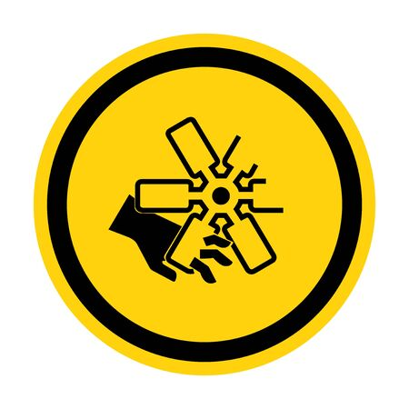 Cutting of Fingers Or Hand Engine Fan Symbol Sign Isolate on White Background,Vector Illustration