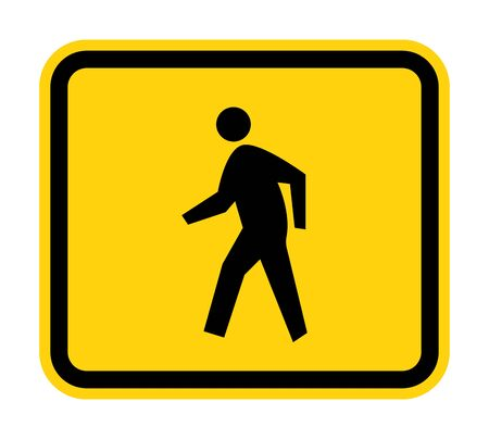 Pedestrian Crossing Symbol Sign Isolate on White Background,Vector Illustration