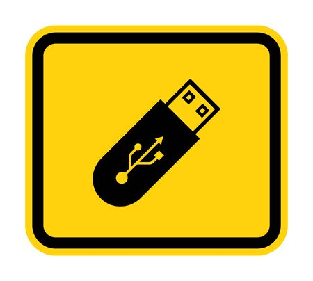 Do Not Use Flash Drive Symbol Sign Isolate On White Background,Vector Illustration