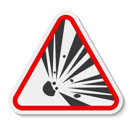Beware Explosive Material Symbol Sign Isolate on White Background,Vector Illustration