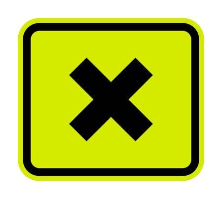 Cuidado con el signo irritante aislar sobre fondo blanco.