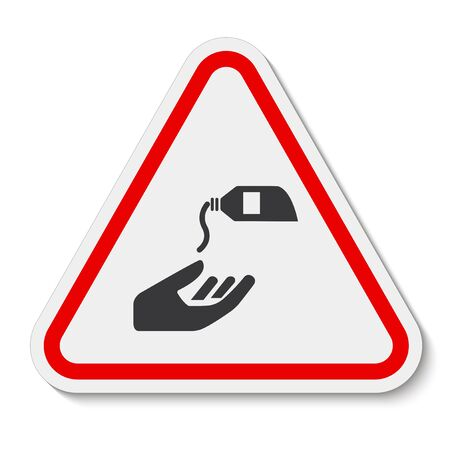 PPE Icon.Use Barrier Cream Symbol Sign Isolate On White Background,Vector Illustration