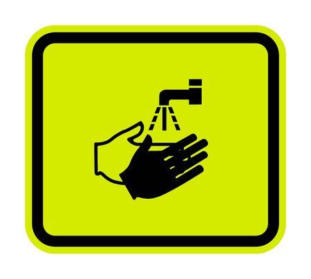 PPE Icon.Wash Your Hand Symbol Isolate On White Background,Vector Illustration EPS.10 Standard-Bild - 134460836