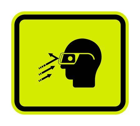 Flying Debris Wear Safety Glasses Symbol Sign Isolate on White Background,Vector Illustration