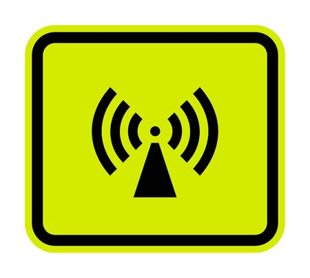 Beware Non-Ionizing Radiation Symbol sign Isolate On White Background,Vector Illustration