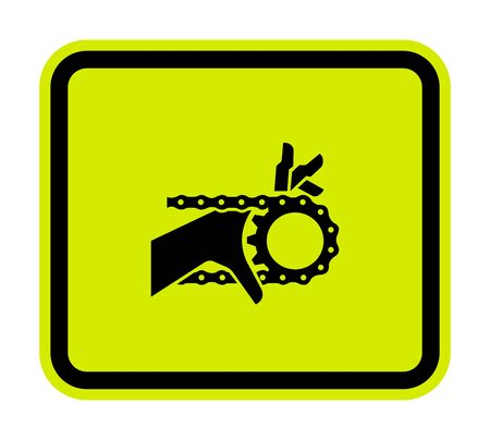 Hand Entanglement Chain Drive Symbol Sign Isolate on White Background,Vector Illustration