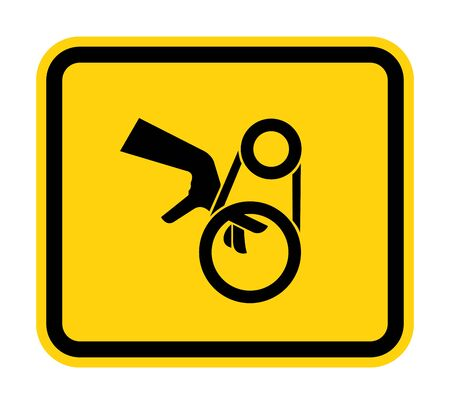 Hand Entanglement Belt Drive Symbol Sign, Vector Illustration, Isolate On White Background Label .EPS10