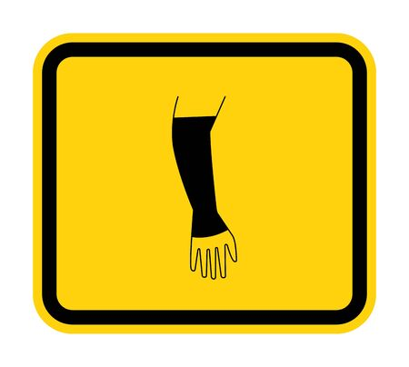 PPE Icon.Wear Tackle Hand Symbol Isolate On White Background,Vector Illustration EPS.10