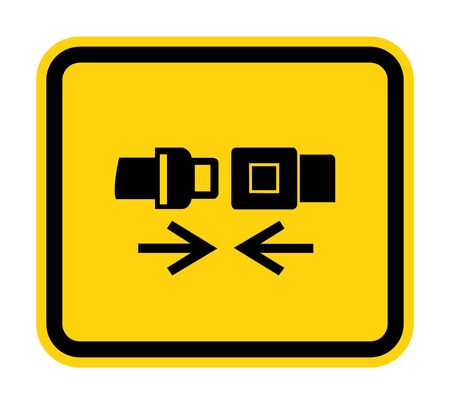 PPE Icon.Wear Safety Belt Symbol Sign Isolate On White Background,Vector Illustration EPS.10