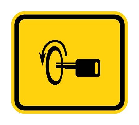 Éteignez le signe du symbole du moteur isoler sur fond blanc, illustration vectorielle EPS.10