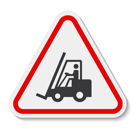 Beware Forklift Symbol Sign Isolate On White Background, Vector Illustration