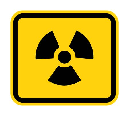 Radiation Hazard Symbol Sign Isolate on White Background,Vector Illustration