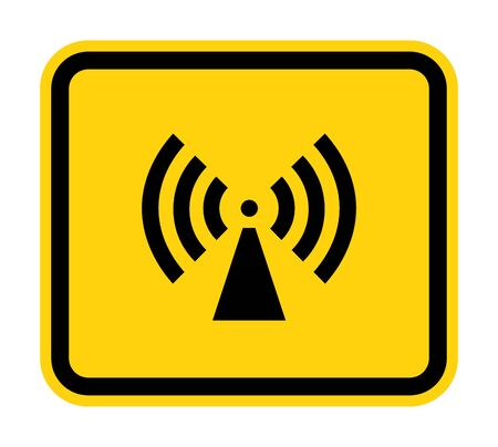 Beware Non-Ionizing Radiation Symbol sign Isolate On White Background, Vector Illustration