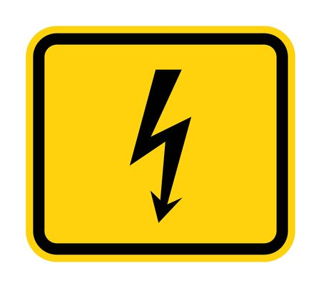 Danger High Voltage Symbol Sign Isolate On White Background,Vector Illustration  Vectores