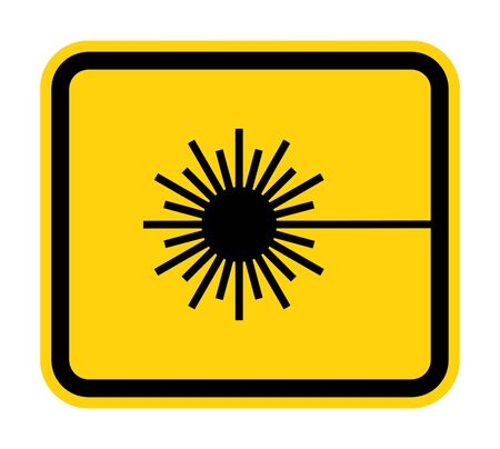 Beware Laser Beam Symbol Sign Isolate On White Background,Vector Illustration