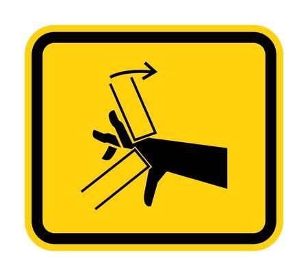 Hand Crush Pinch Point Symbol Sign Isolate on White Background,Vector Illustration  Illusztráció