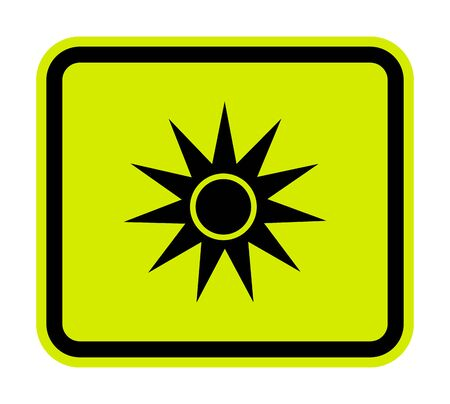 Beware Optical Radiation Symbol Isolate On White Background, Vector Illustration