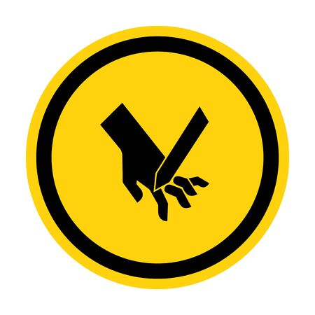 Cutting Of Fingers Angled Blade Symbol Sign, Vector Illustration, Isolate On White Background Label .