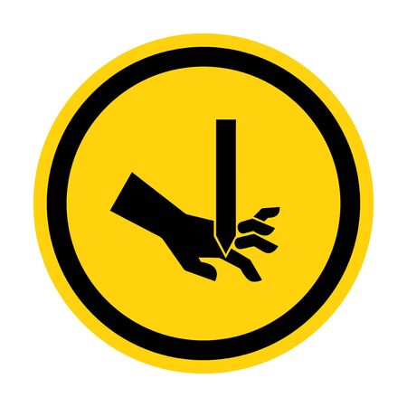 Cutting of Fingers Straight Blade Symbol Sign, Vector Illustration, Isolate On White Background Label . Illustration
