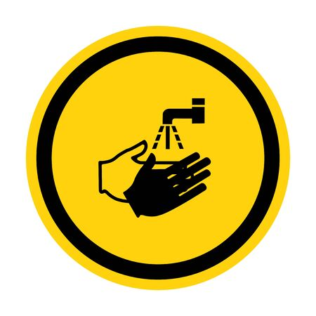 PPE Icon.Wash Your Hand Symbol Isolate On White Background,Vector Illustration Ilustracja