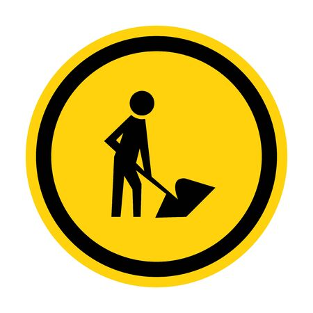 Men At Work Symbol Sign Isolate on White Background,Vector Illustration
