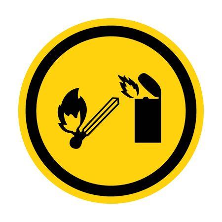 No Lighter Symbol Sign Isolate on White Background,Vector Illustration